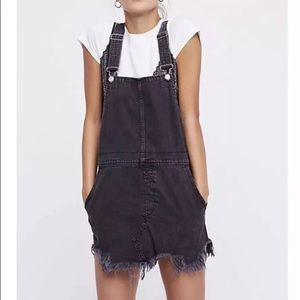 NWT Free People Overalls Dress Distressed Jean